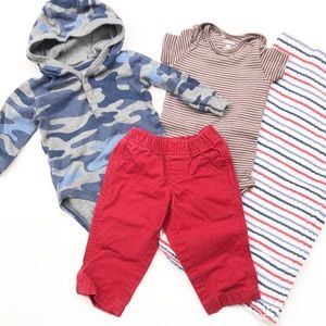 Carter's baby boy camo outfit set + blanket